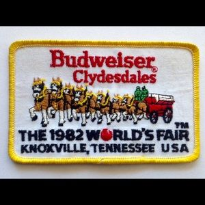 Other - Vintage 80's Budweiser Clydesdales patch